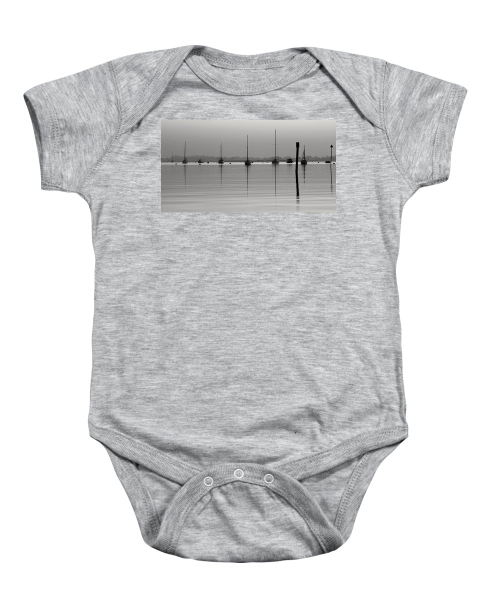 Emsworth Baby Onesie featuring the photograph Moored Tranquility by Robert Phelan