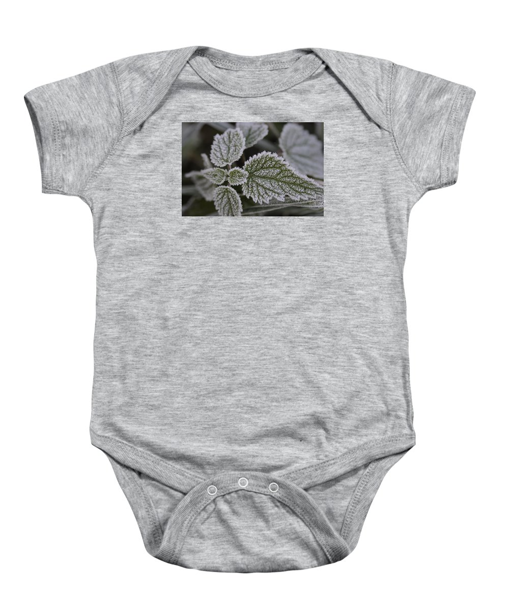 Frost Baby Onesie featuring the photograph Morning Frost by Miguel Winterpacht