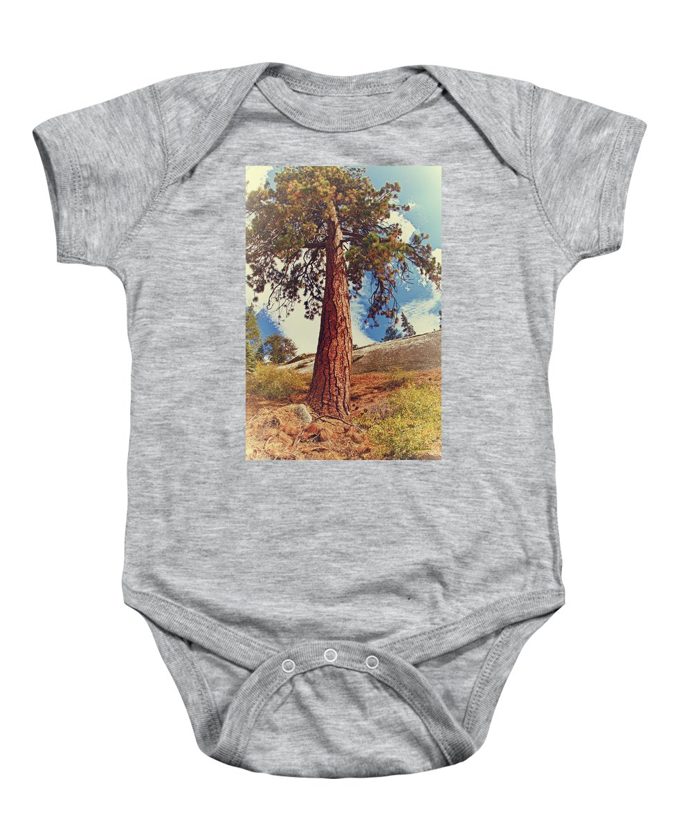 Sugar Baby Onesie featuring the photograph Mother Tree by Angela Stanton
