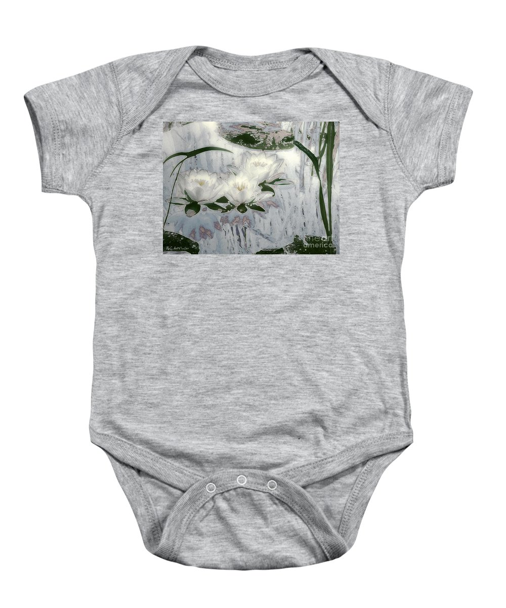 Asian Baby Onesie featuring the painting Motif Japonica No. 1 by RC DeWinter