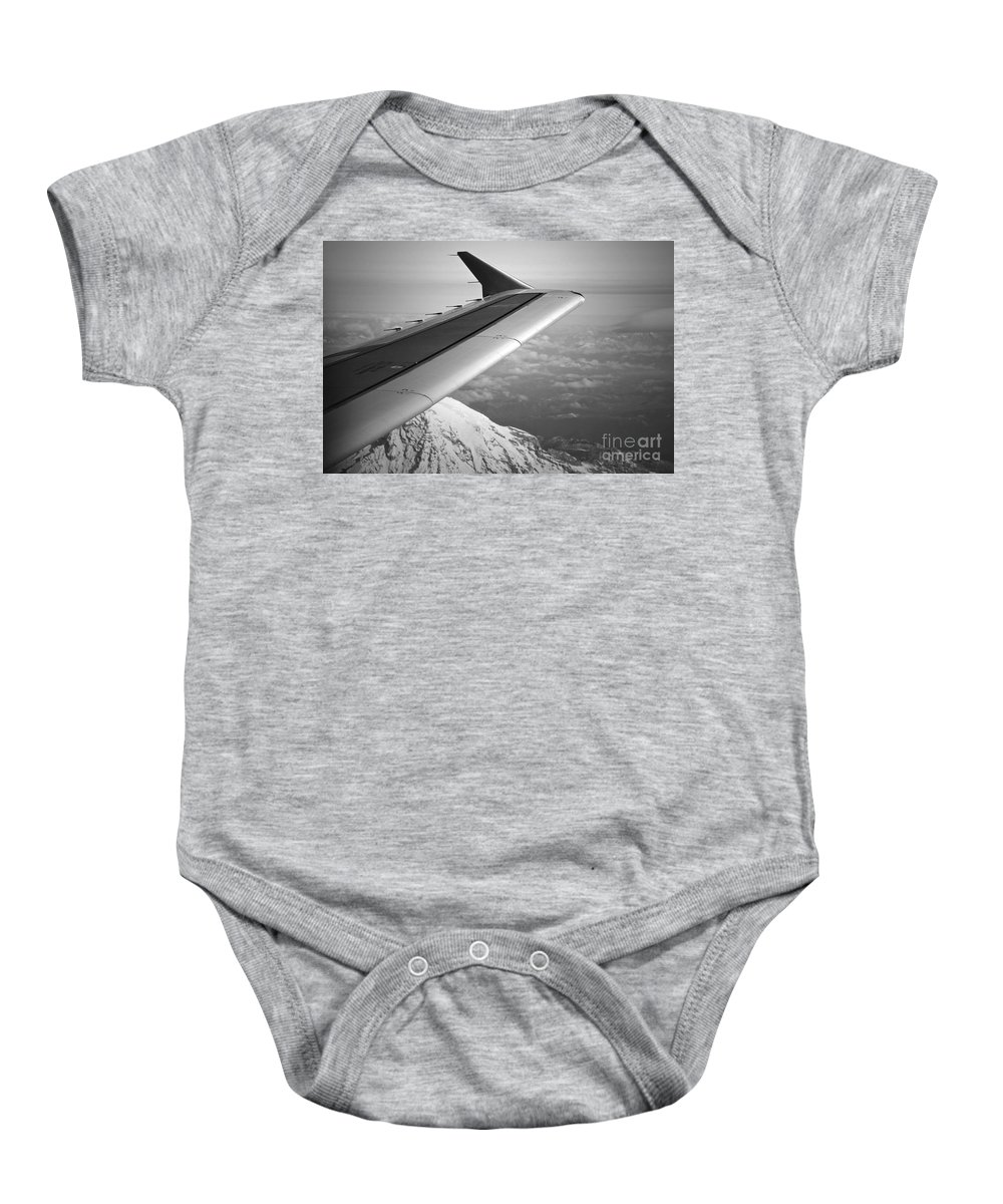 Plane Baby Onesie featuring the photograph Mountain Climbing by Gwyn Newcombe