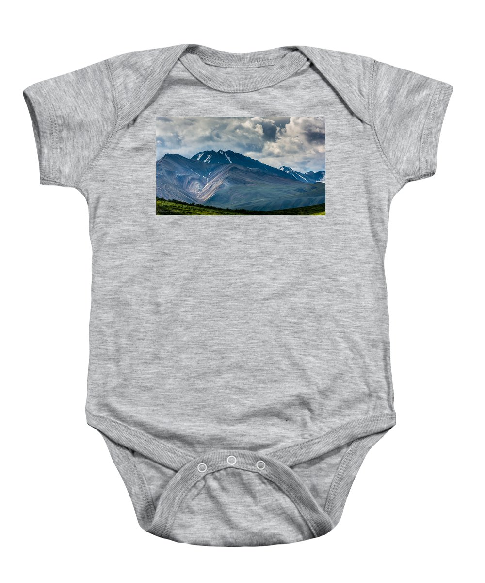 Mountain Baby Onesie featuring the photograph Mountain Landscape by Andrew Matwijec