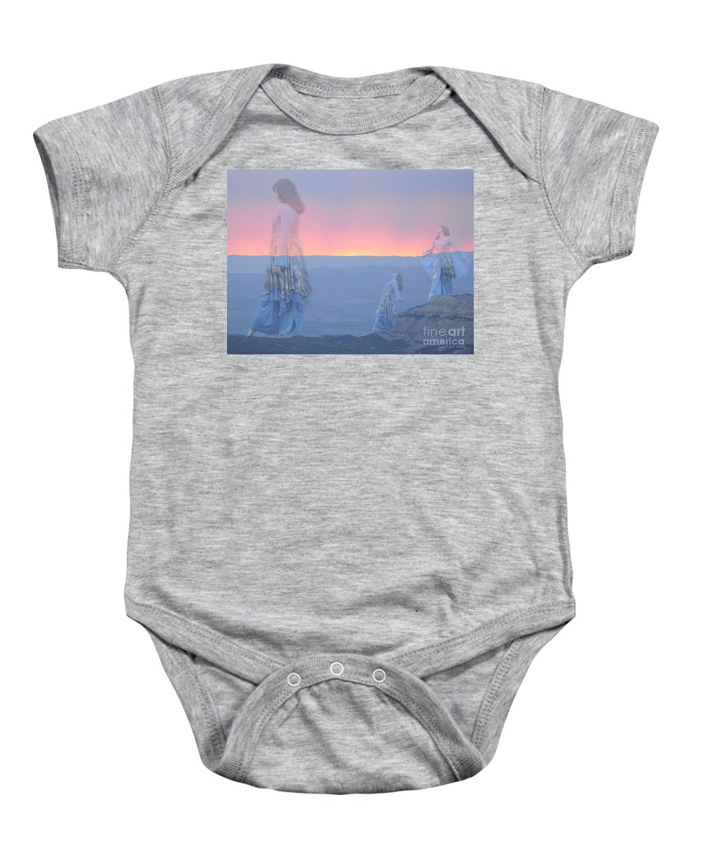 Dance Art Baby Onesie featuring the painting Mountain Of Blessing by Constance Woods