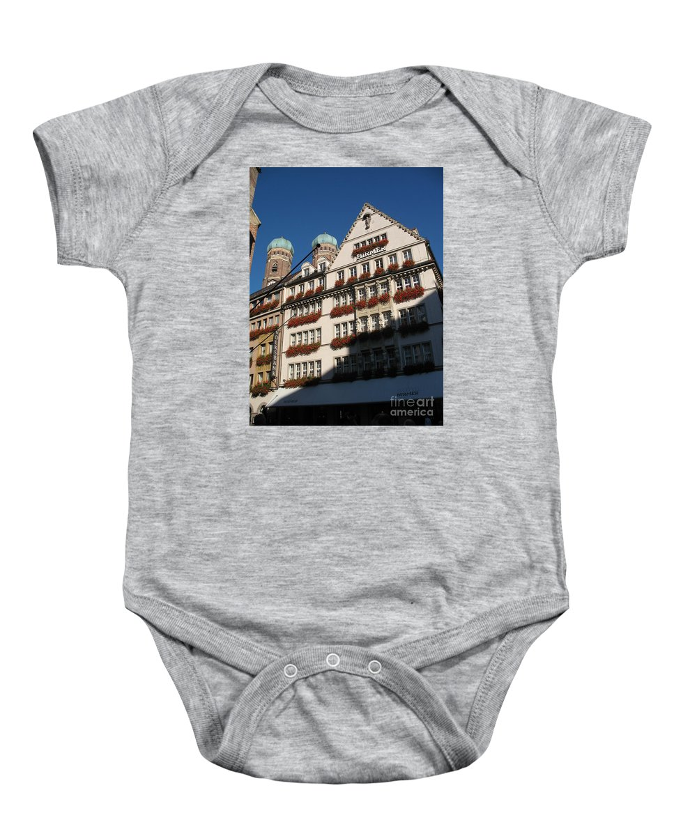 City Baby Onesie featuring the photograph Munich City by Christiane Schulze Art And Photography