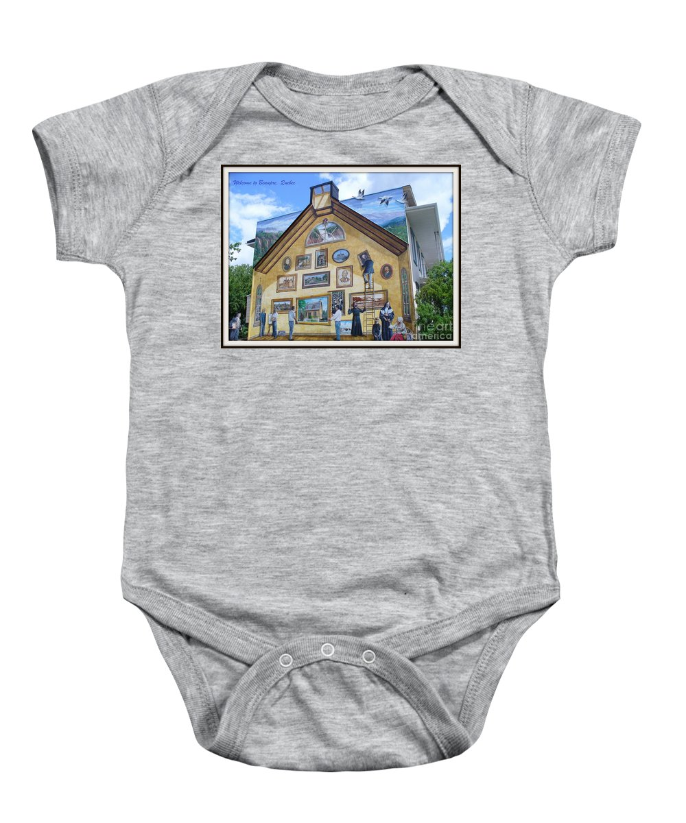 Quebec City Baby Onesie featuring the photograph Mural In Beaupre Quebec by Lingfai Leung