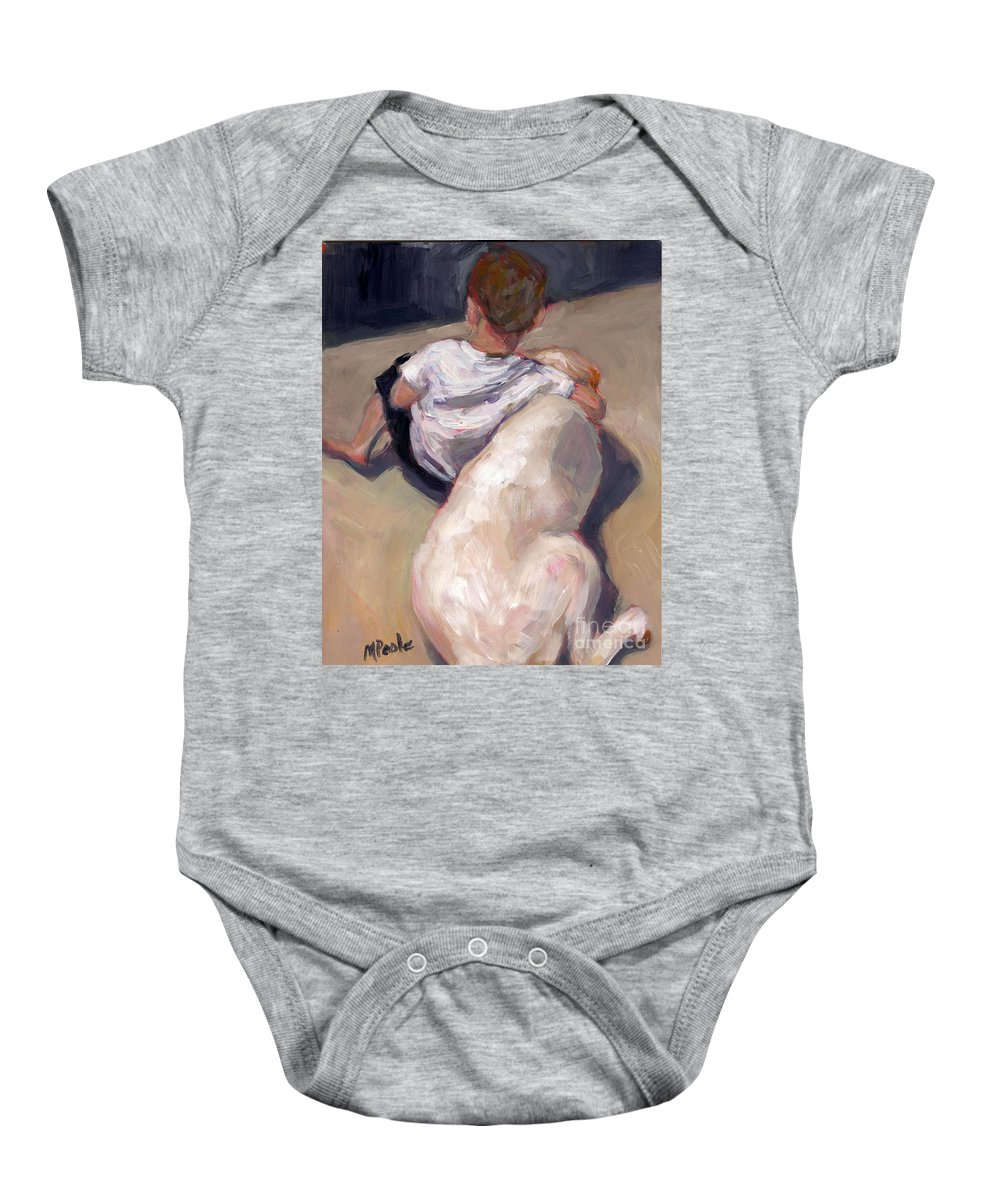 Baby Onesie featuring the painting My Beau by Molly Poole