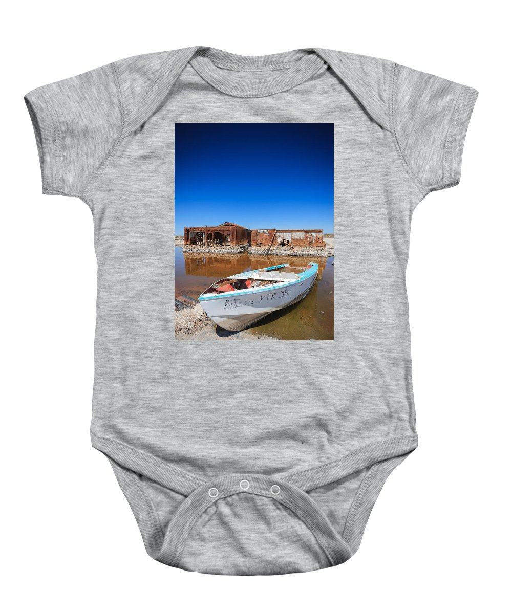 Abandoned Baby Onesie featuring the photograph My Front Yard by Scott Campbell