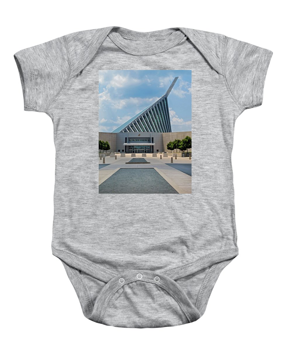 Marines Baby Onesie featuring the photograph National Museum Of The Marine Corps by Dave Mills