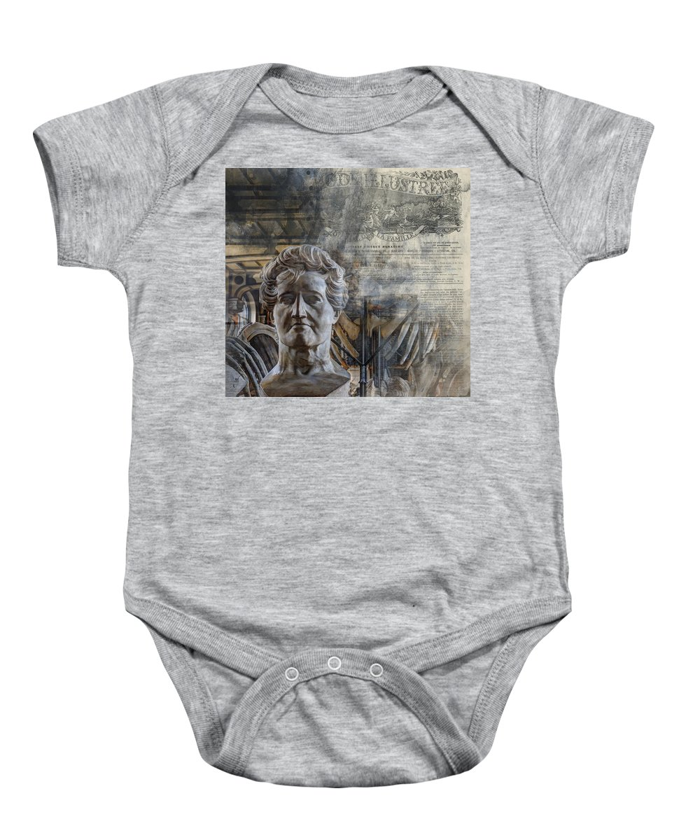 Arch Baby Onesie featuring the photograph Natural History Meets The Press by Evie Carrier