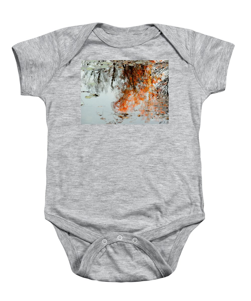 Tree Baby Onesie featuring the photograph Natural Paint Daubs by Aimelle