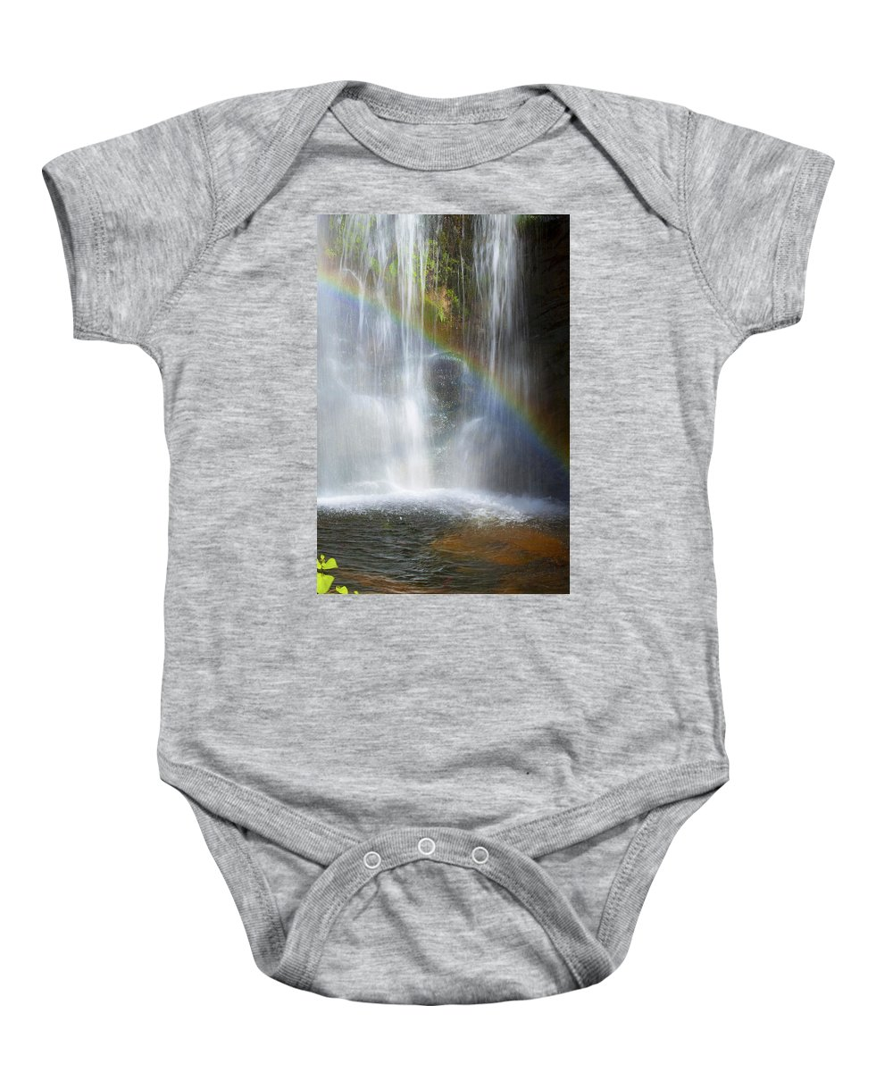 Rainbow Falls Baby Onesie featuring the photograph Natures Rainbow Falls by Jerry Cowart
