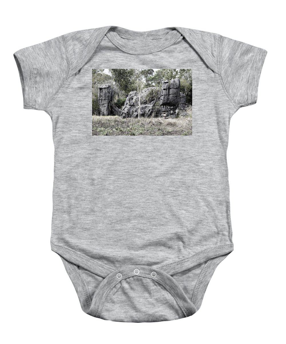 Nature's Statues Baby Onesie featuring the photograph Nature's Statues by Douglas Barnard