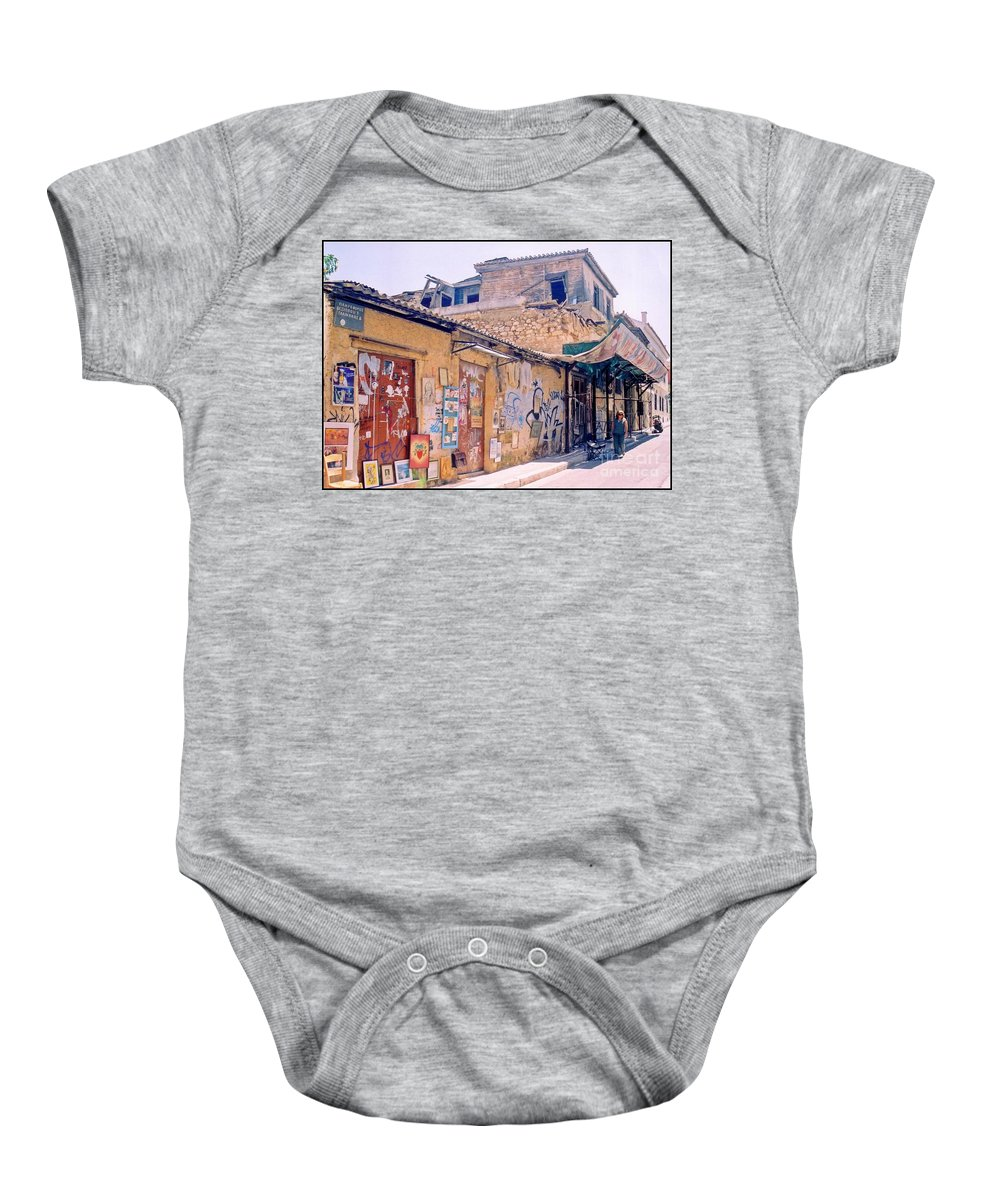 Greece Baby Onesie featuring the photograph Near The Monastiraki In Greece by John Malone