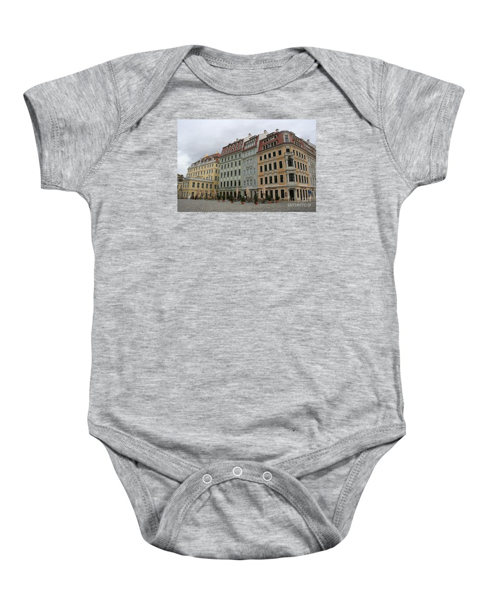 Neumarkt Baby Onesie featuring the photograph Neumarkt - Dresden - Germany by Christiane Schulze Art And Photography