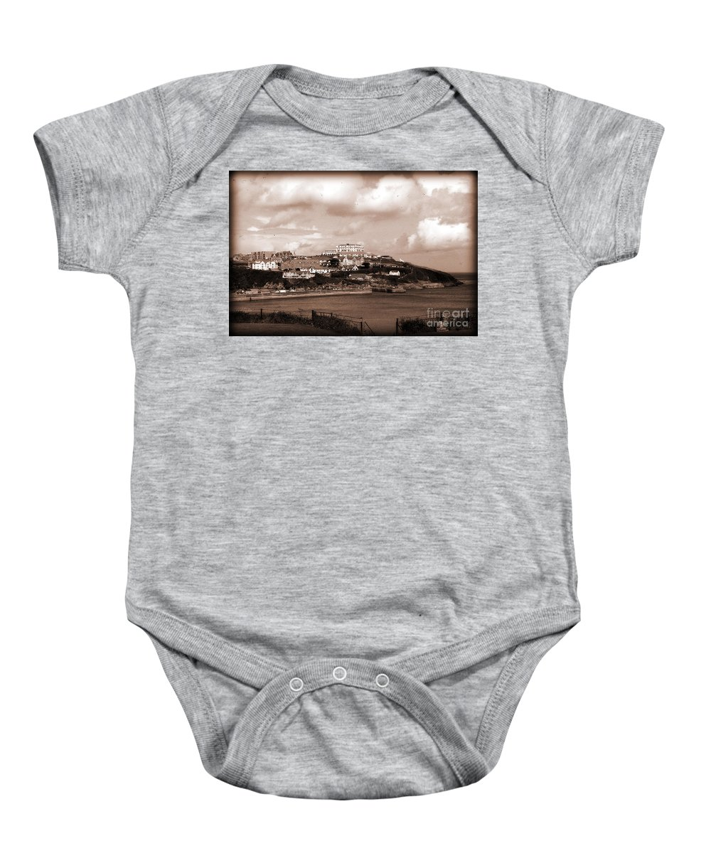 Newquay Baby Onesie featuring the digital art Newquay In Cornwall by Nicholas Burningham