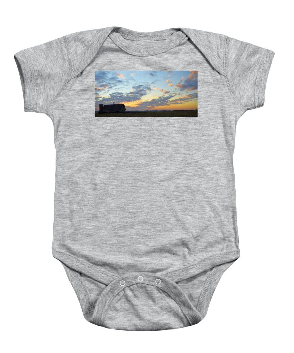Sunset Baby Onesie featuring the photograph Nightfall by Bonfire Photography