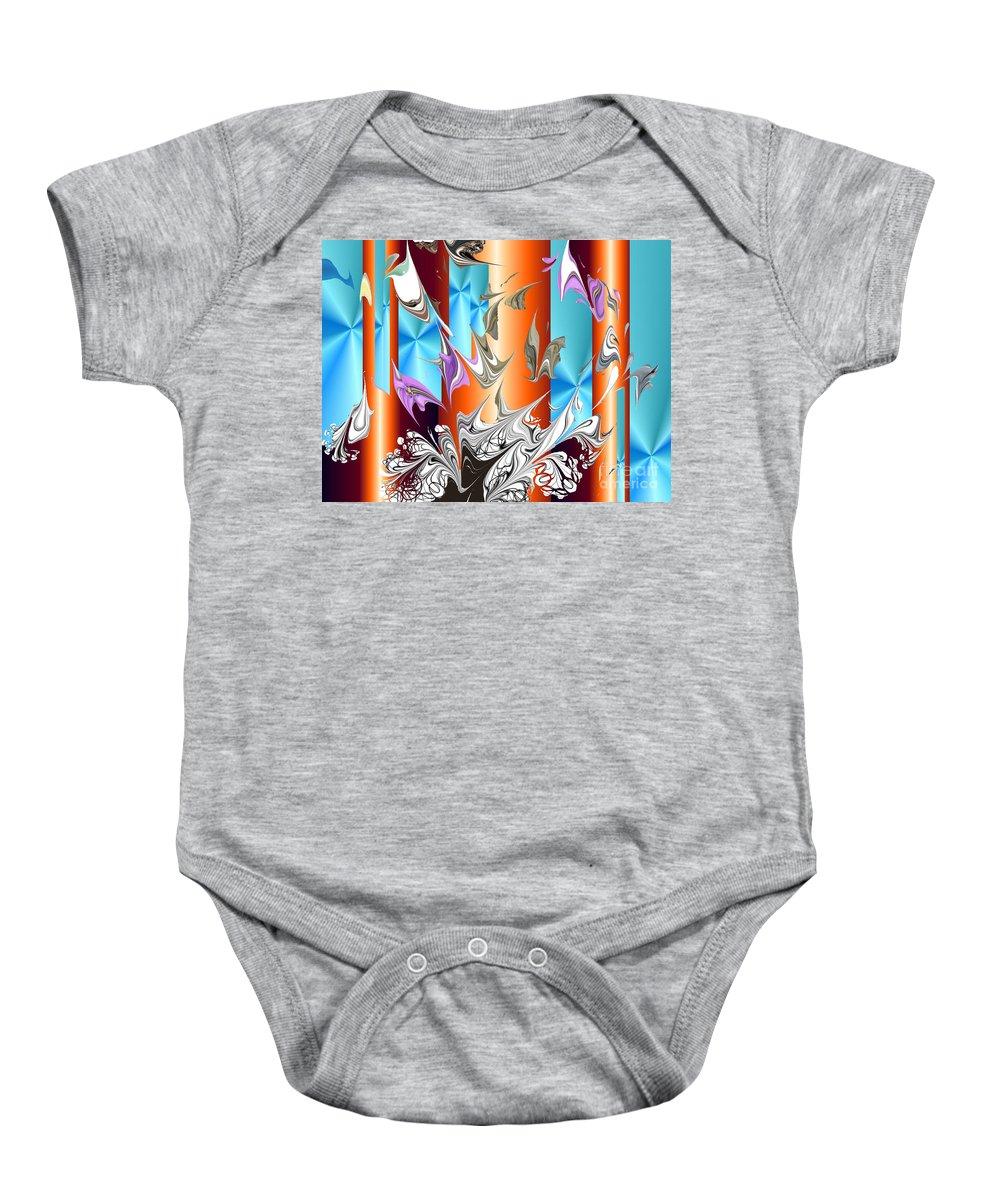 Baby Onesie featuring the digital art No. 129 by John Grieder
