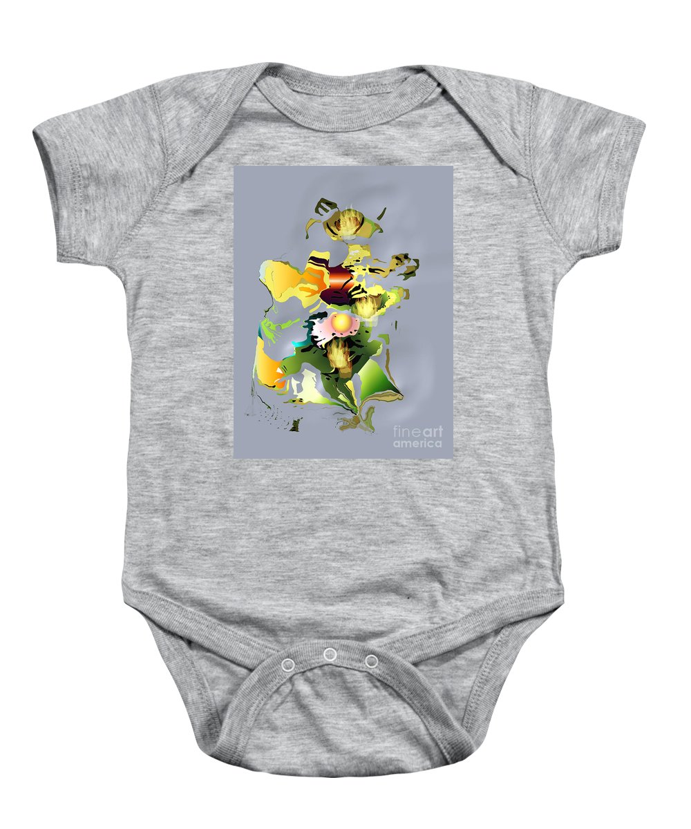 Baby Onesie featuring the digital art No. 330 by John Grieder