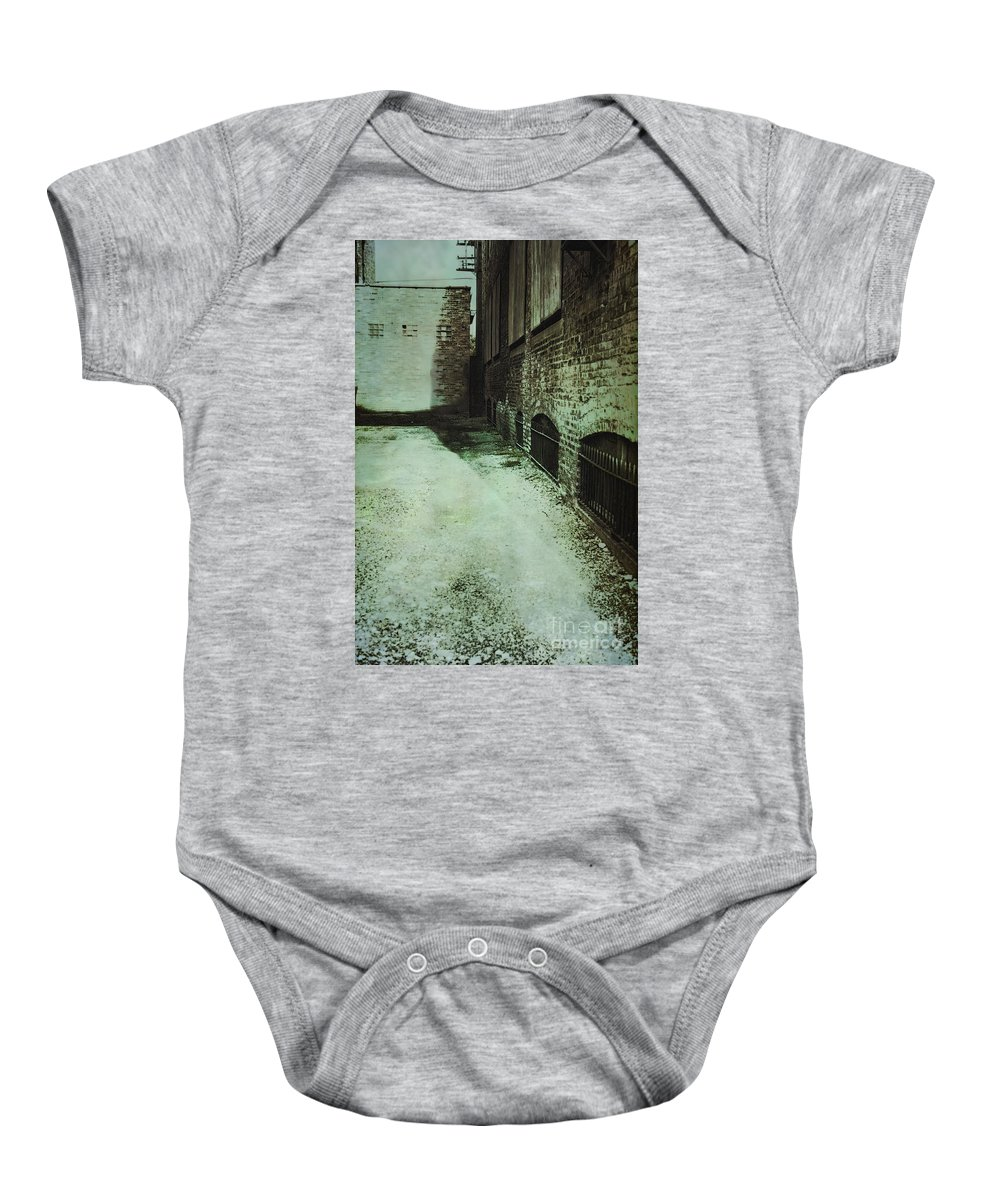 Alley Baby Onesie featuring the photograph No Way To Escape by Margie Hurwich