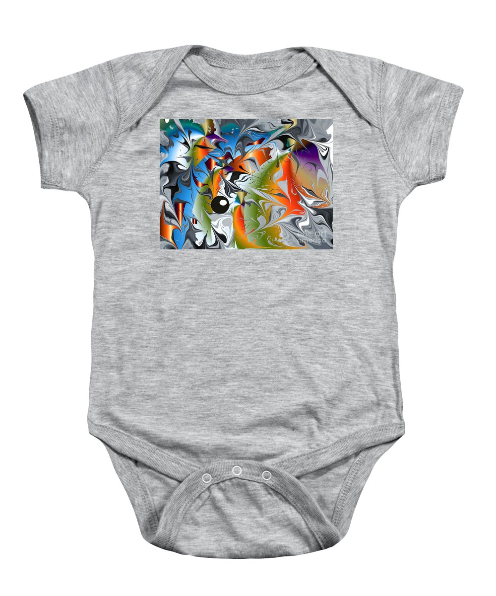 Baby Onesie featuring the digital art No.126 by John Grieder