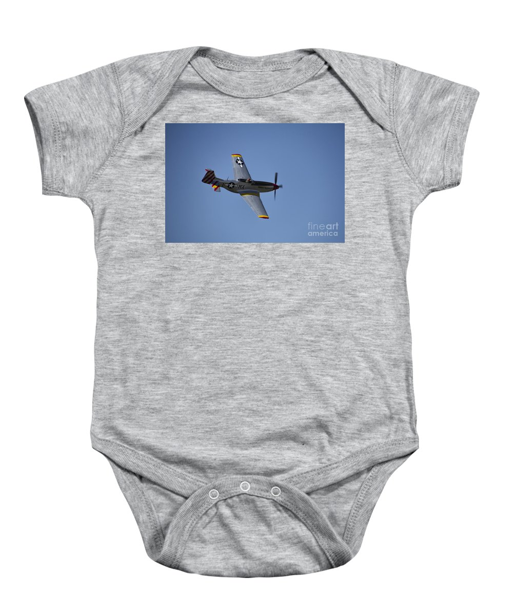 North American P-51d Mustang Baby Onesie featuring the photograph North American P-51d Mustang by Douglas Barnard