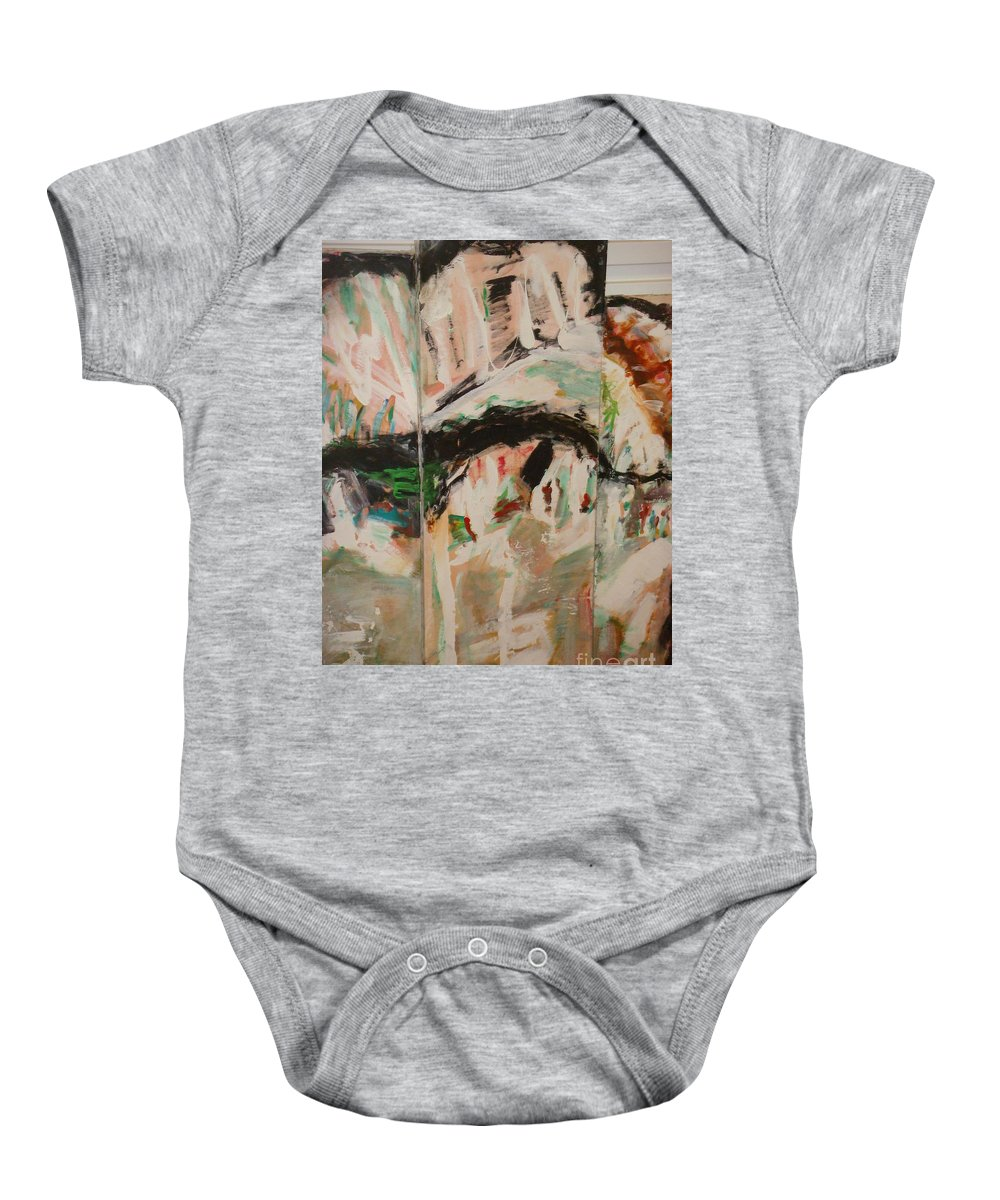 Time Baby Onesie featuring the painting Nostalgies Of Venice by Fereshteh Stoecklein