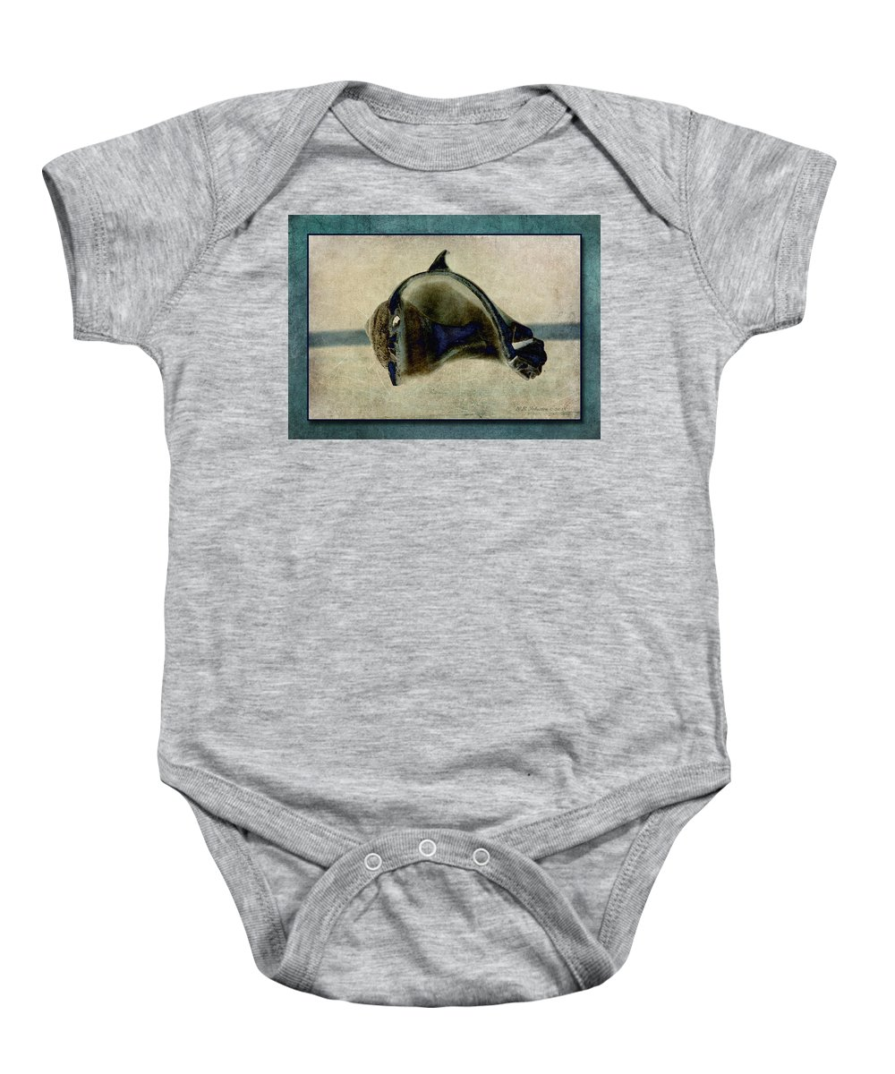 Shell Baby Onesie featuring the photograph Not A Dolphin by WB Johnston