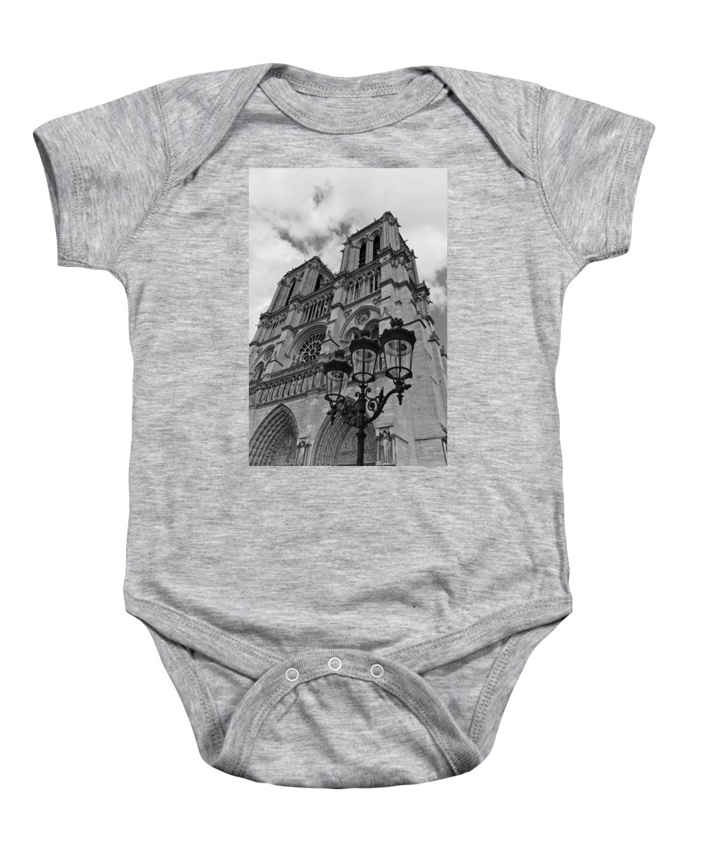 Notre Dame Cathedral Baby Onesie featuring the photograph Notre Dame by Maj Seda