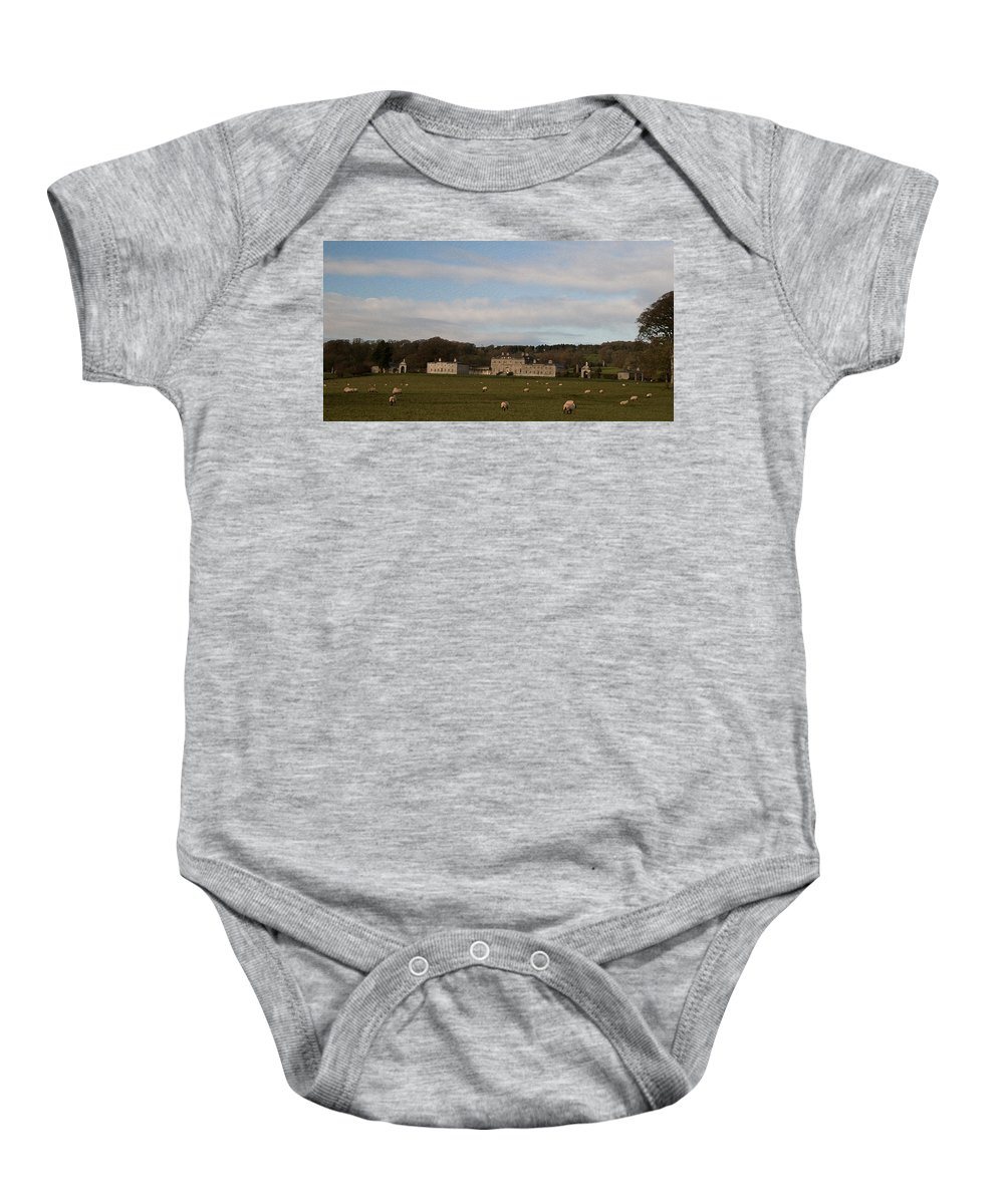 O So Peaceful Baby Onesie featuring the photograph 'o So Peaceful' by Dave Byrne