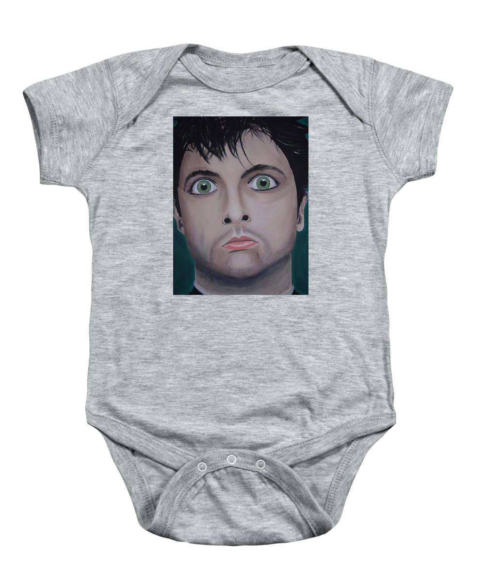 Rockumentory Baby Onesie featuring the painting Ode To Billie Joe by Dean Stephens