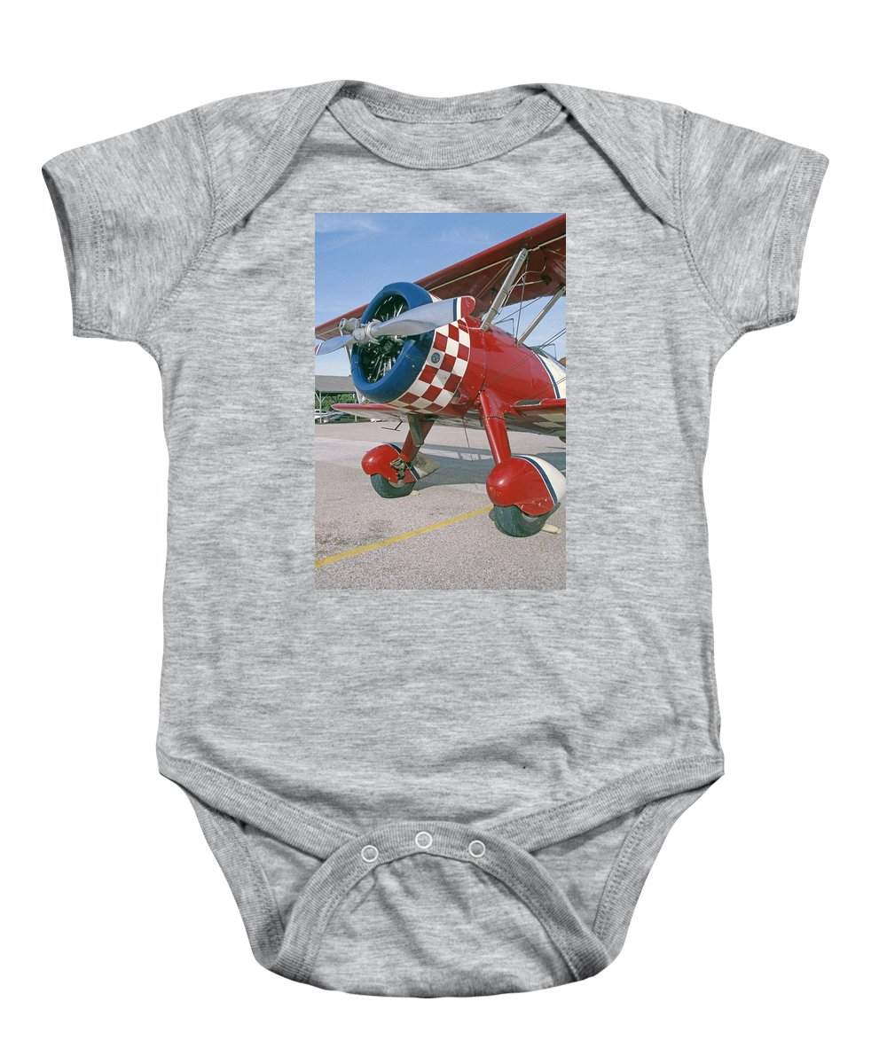 Old Airplanes Baby Onesie featuring the photograph Old Biplane V by Jim Smith