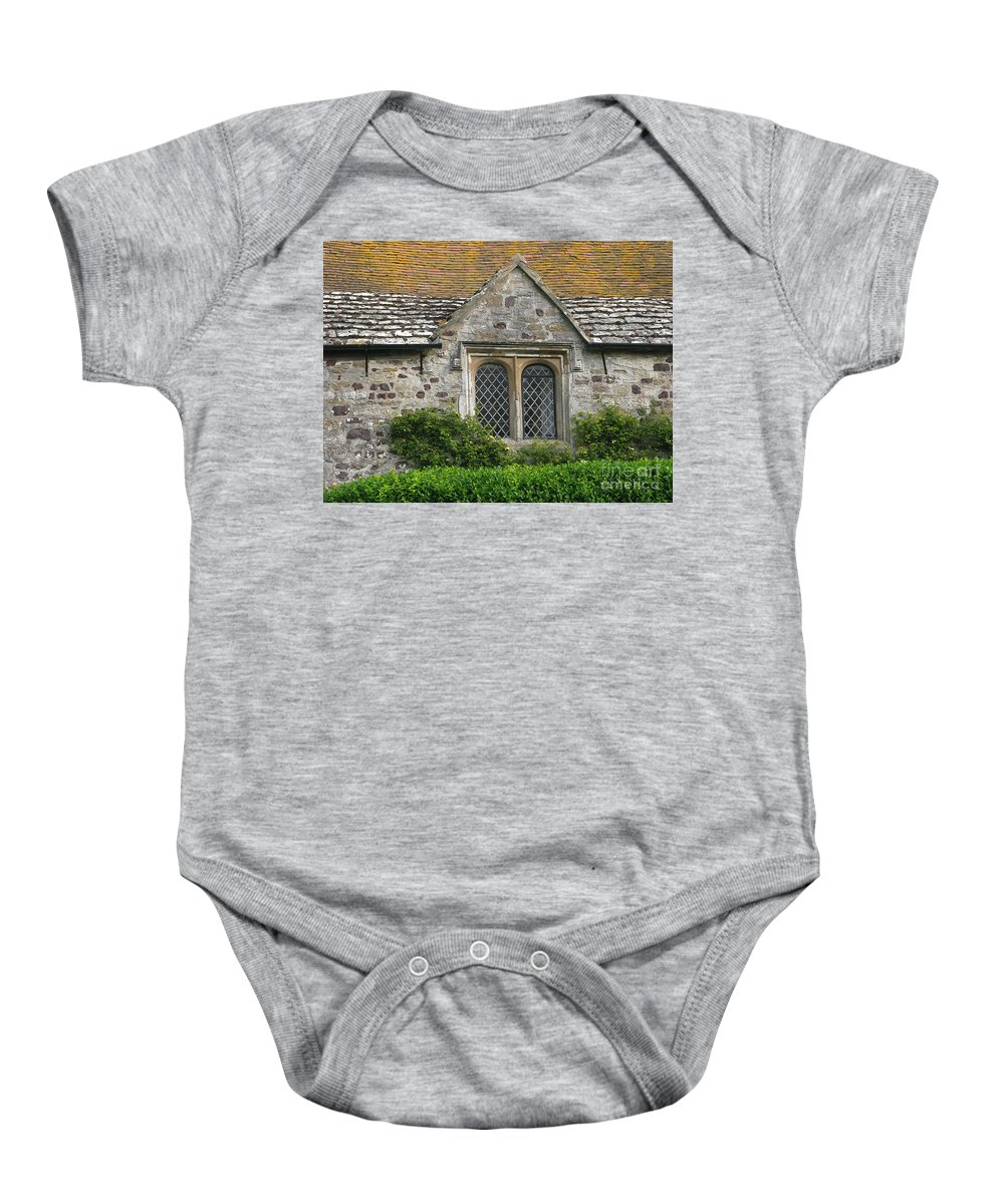 England Baby Onesie featuring the photograph Old English by Ann Horn