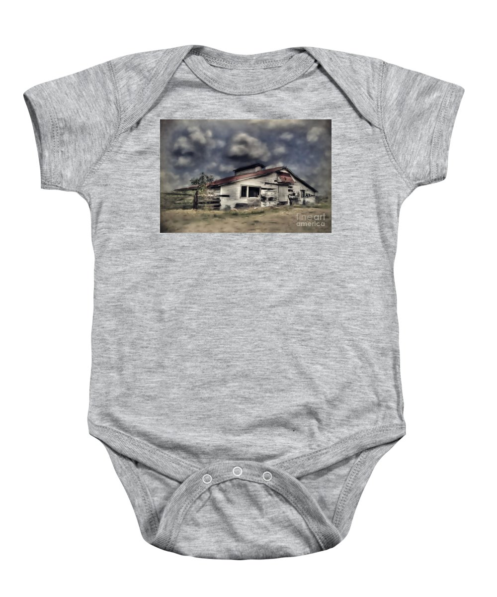 Old Baby Onesie featuring the photograph Old Farm by Savannah Gibbs