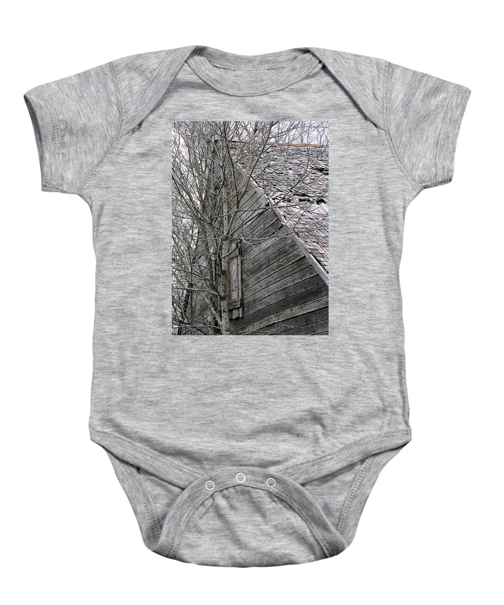 Structures Baby Onesie featuring the photograph Old Farmhouse I I by Jim Smith