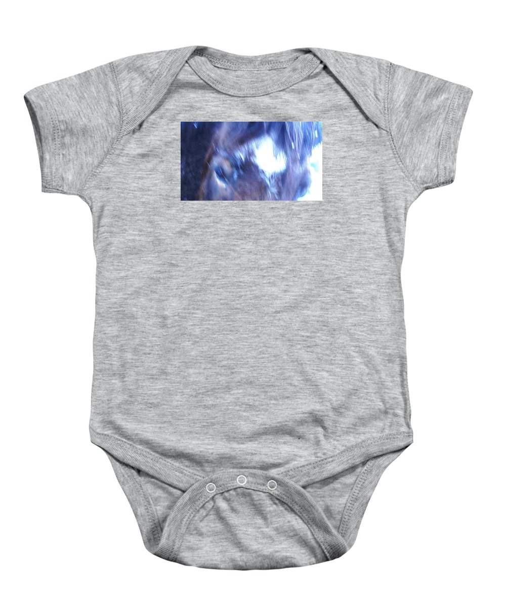 Classic Baby Onesie featuring the photograph My Star Is Old Icelandic Style, Just Like The Miserable Weather by Hilde Widerberg