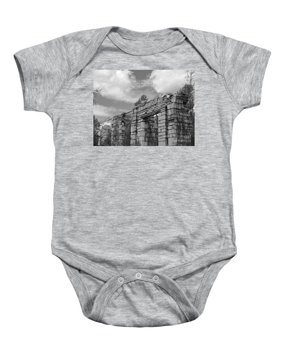 Marble Mill Baby Onesie featuring the photograph Old Marble Mill by Tonya Hance