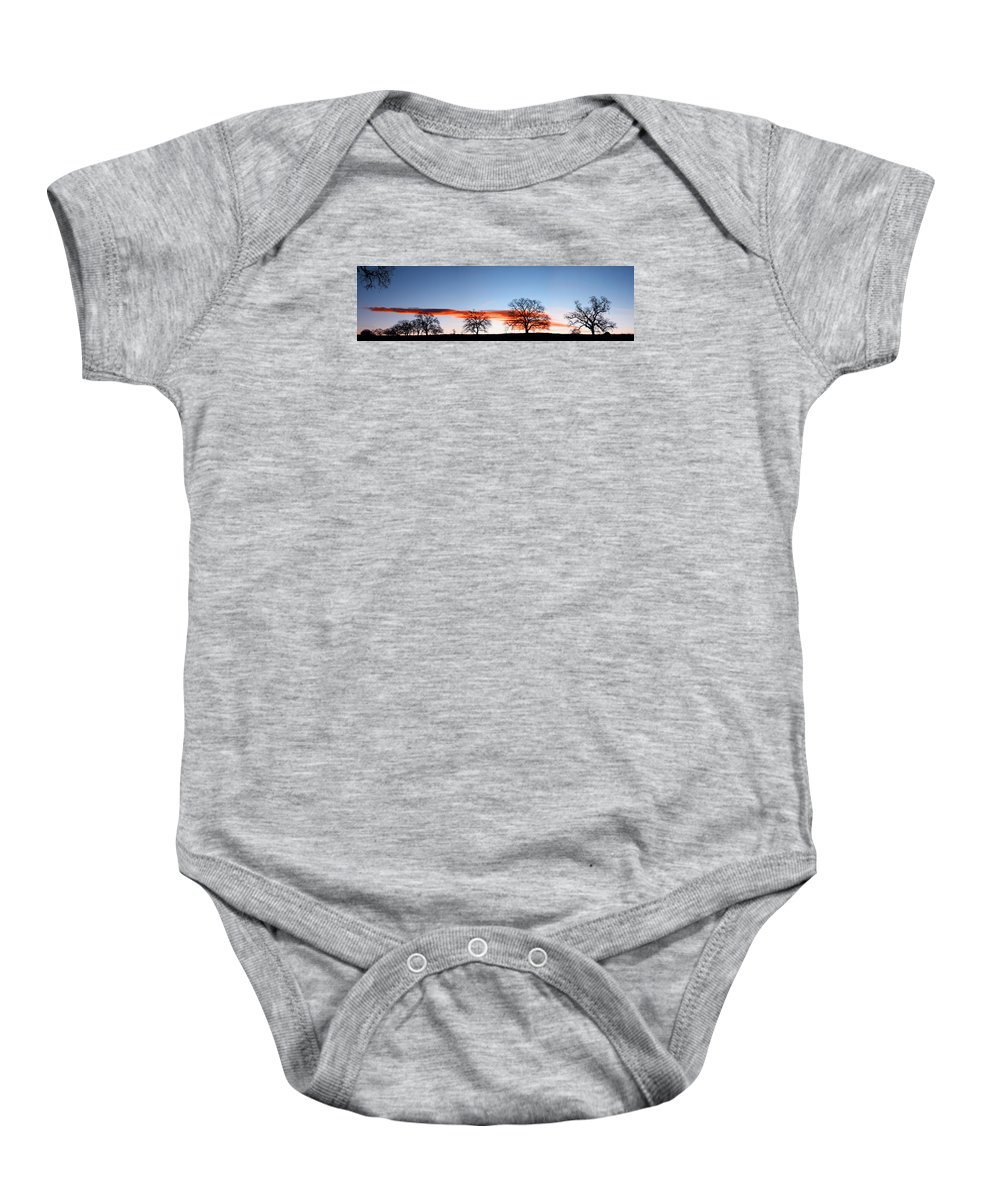 Tree Baby Onesie featuring the photograph Old Oak Trees On Old Humboldt Road by Robert Woodward