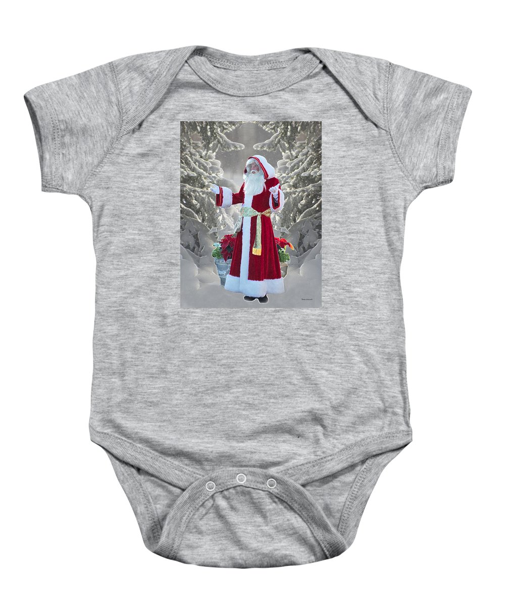 Old Saint Nicholas Baby Onesie featuring the photograph Old Saint Nick by Thomas Woolworth