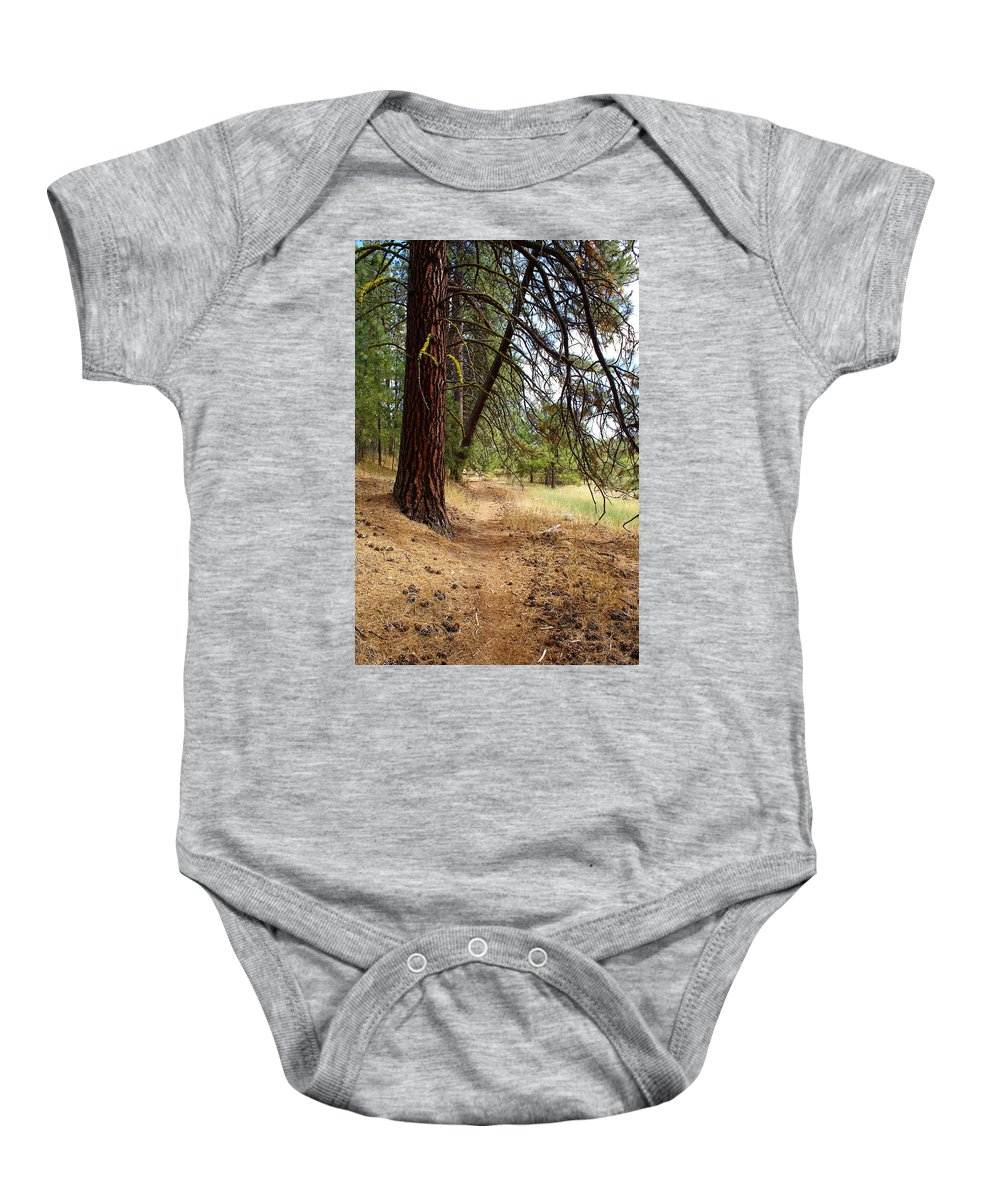 Path Baby Onesie featuring the photograph On A Trail From The Past To The Future by Ben Upham III