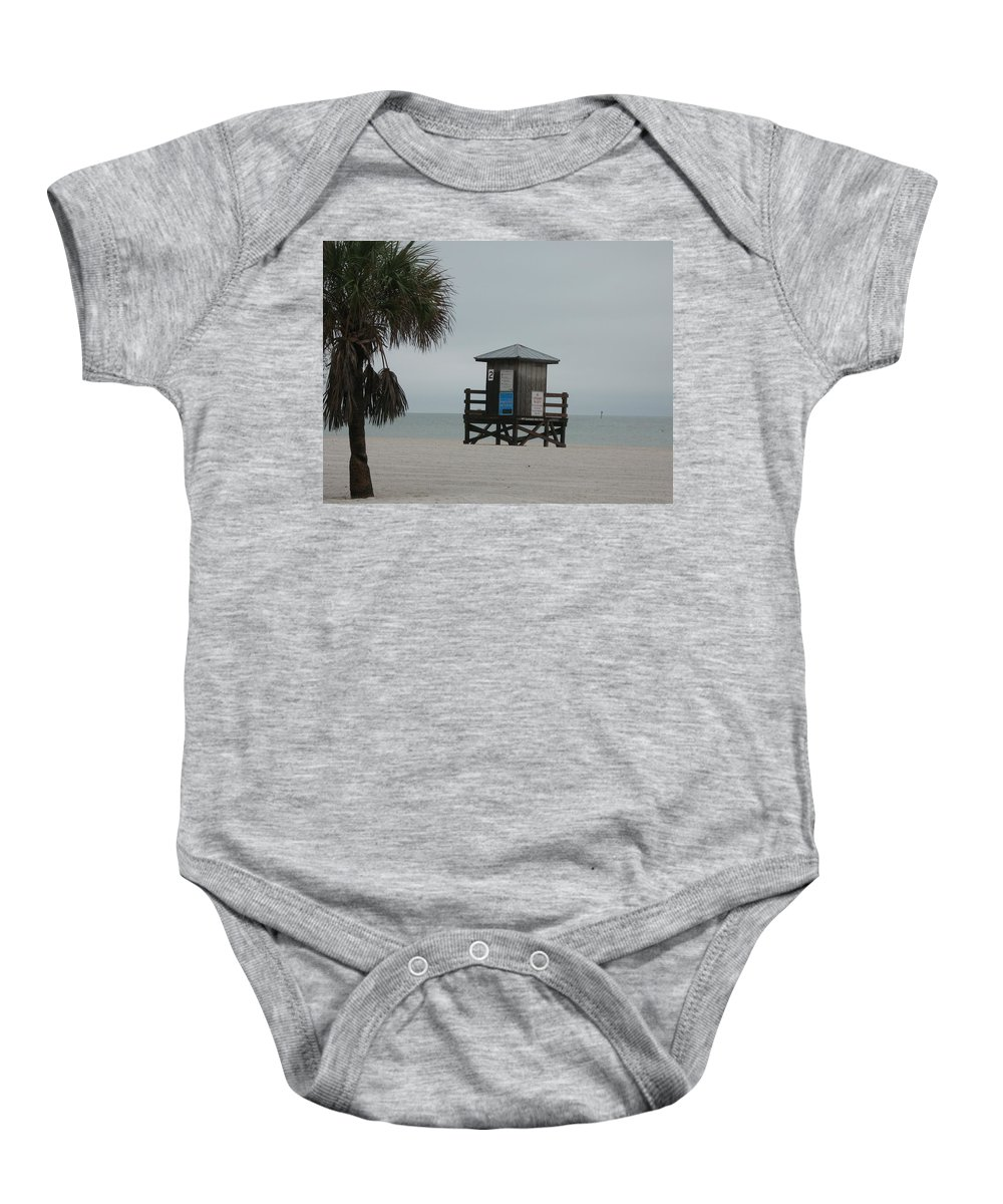 Beach Baby Onesie featuring the photograph No Lifeguard On Duty by Christiane Schulze Art And Photography