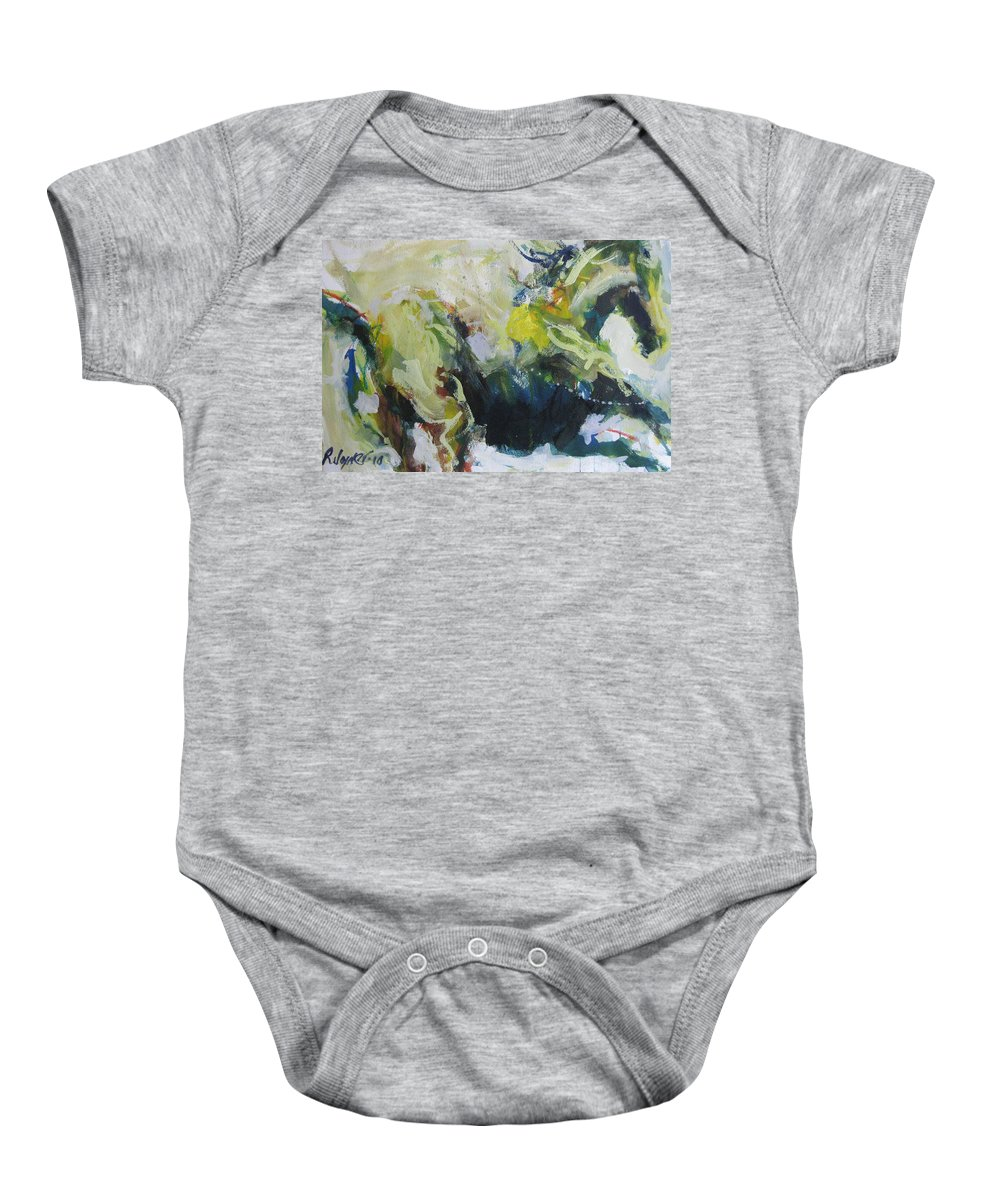 Horse Baby Onesie featuring the painting On The Run No.3 by Robert Joyner
