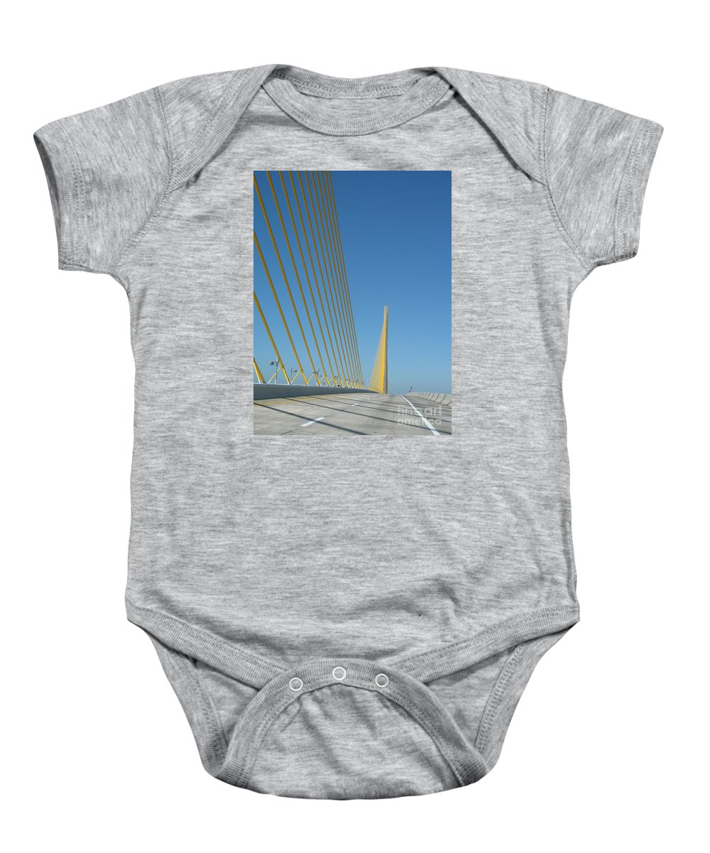 Bridge Baby Onesie featuring the photograph On The Sky Way Brigde by Christiane Schulze Art And Photography