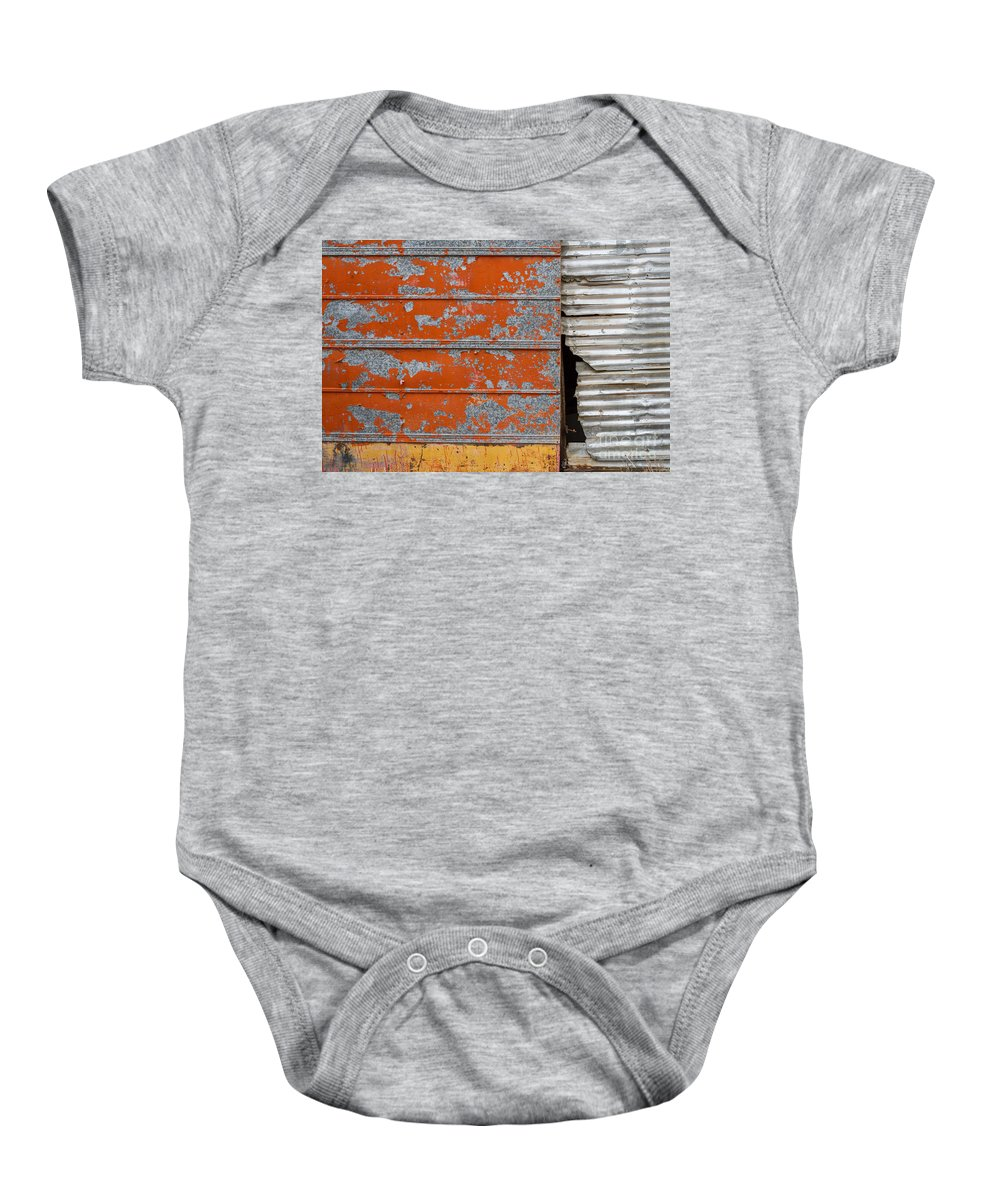 Texas Baby Onesie featuring the photograph Orange Paint by Ashley M Conger
