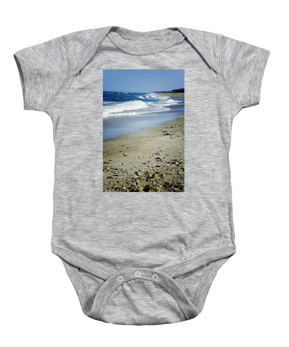 Ormond Beach Baby Onesie featuring the photograph Ormond Beach by Laurie Perry