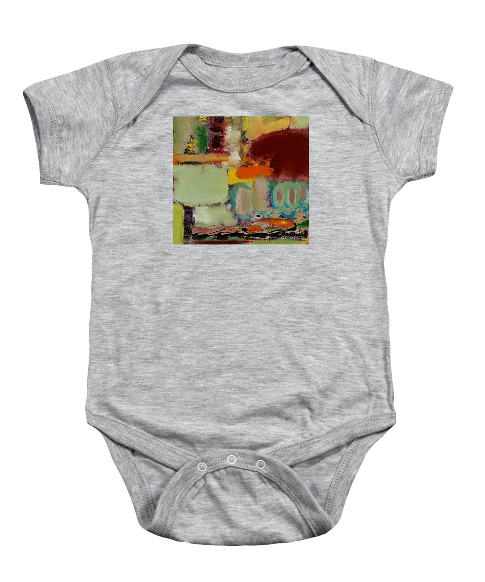 Landscape Baby Onesie featuring the painting Over There by Allan P Friedlander