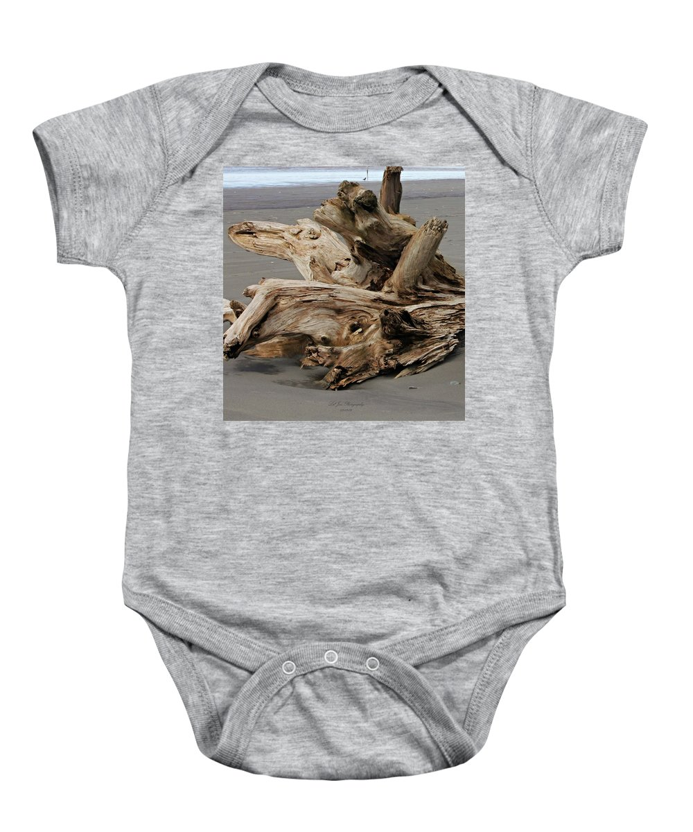 Pacific Driftwood Baby Onesie featuring the photograph Pacific Driftwood II by Jeanette C Landstrom