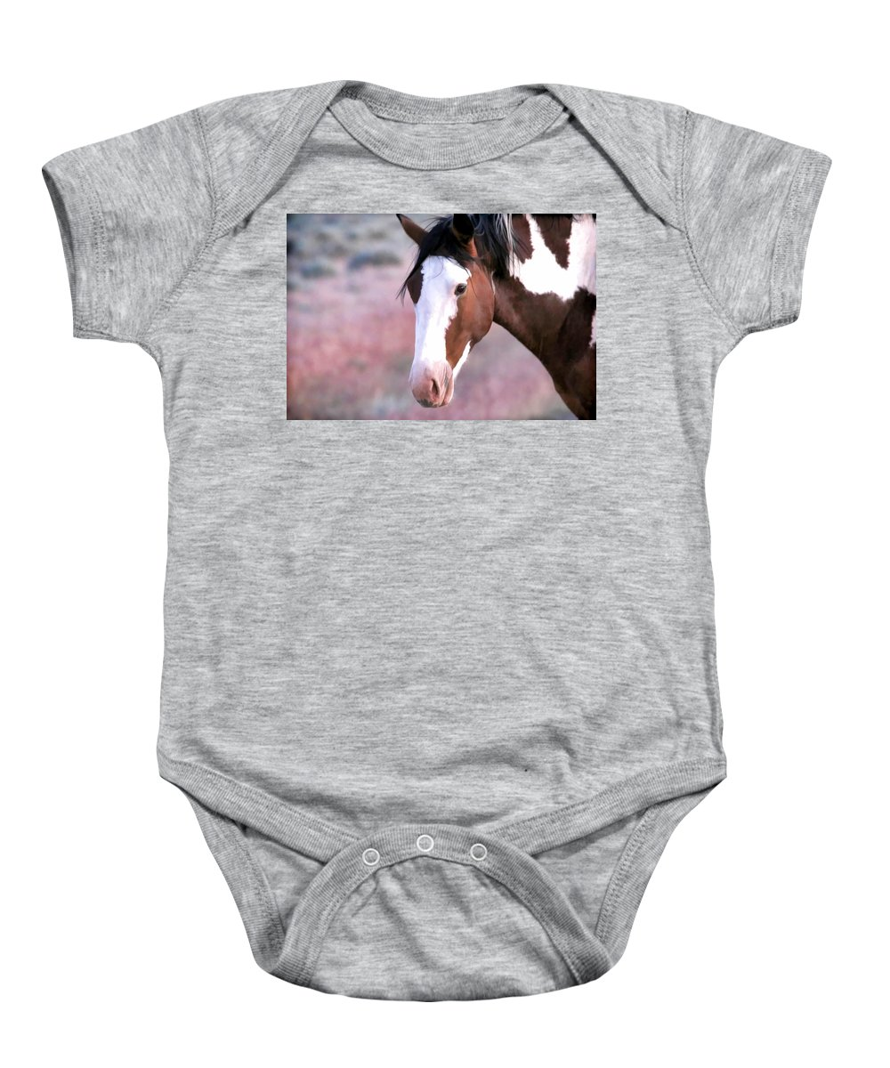 Horses Baby Onesie featuring the photograph Paint by Athena Mckinzie