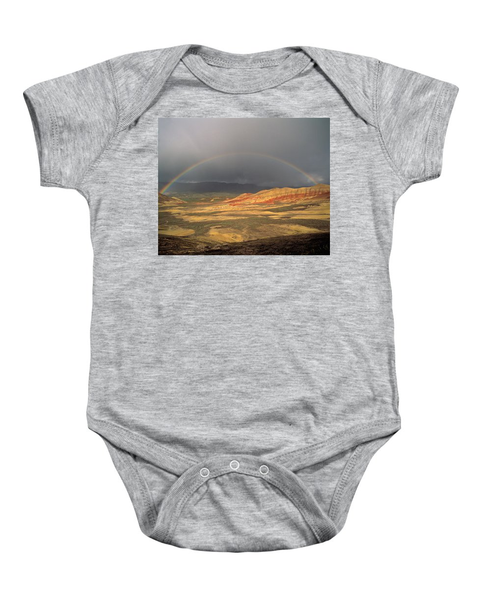 Painted Hills Baby Onesie featuring the photograph Painted Hills by Leland D Howard
