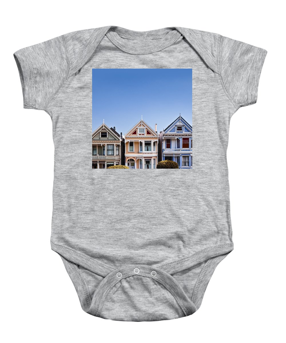 Painted Ladies Baby Onesie featuring the photograph Painted Ladies by Dave Bowman
