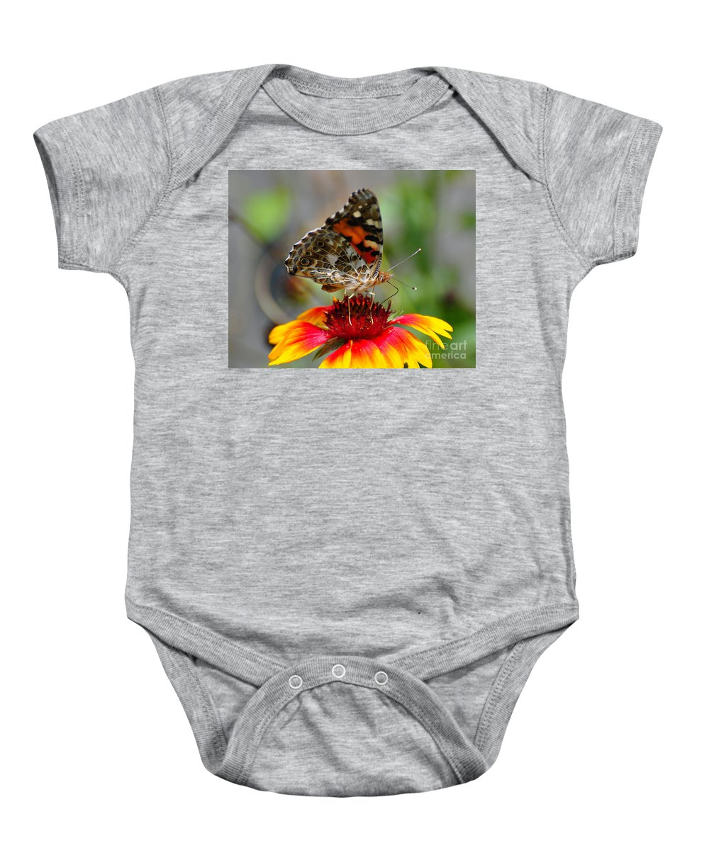 Butterfly Baby Onesie featuring the photograph Painted Lady by Todd Hostetter